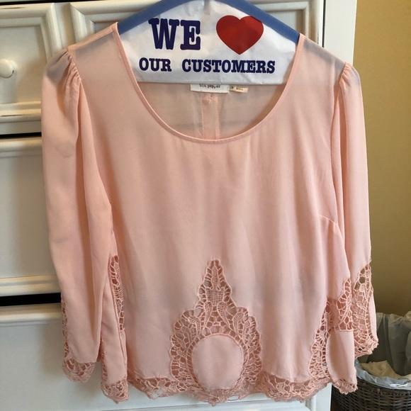 Lush Tops - Pink blouse